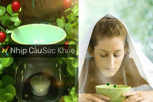 Xông hơi bằng tinh dầu trà xanh